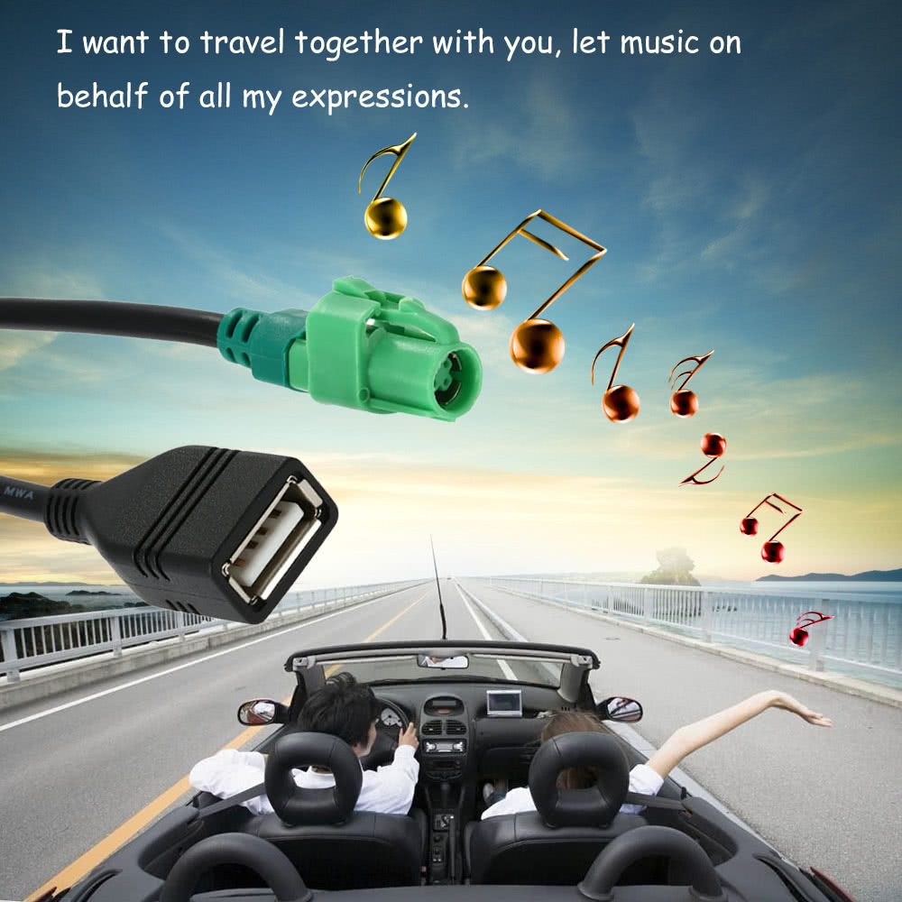 Kkmoon Usb Input Cable Wire Harness Cd Player Aux Adapter For Bmw 3 Car Wiring 5 Series E90 E91 E92