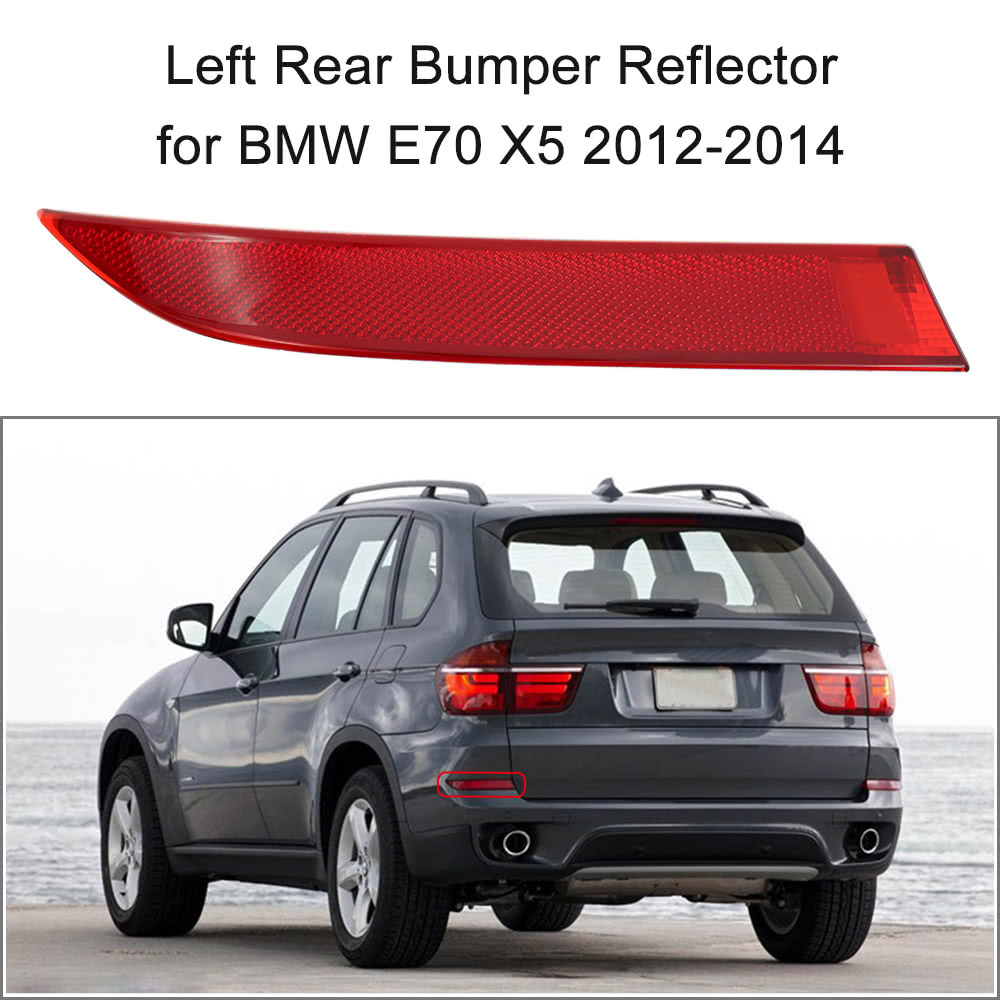 Left Rear Bumper Red Lens Reflector Fog Warn Light