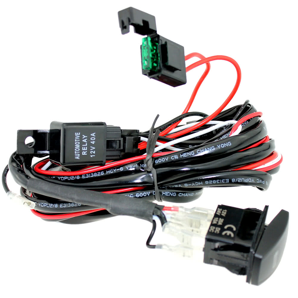 Led Fog Light Laser Rocker On Off Switch With Relay Wiring Harness Boat Trailer Straps Kit 12v For Jeep Rv