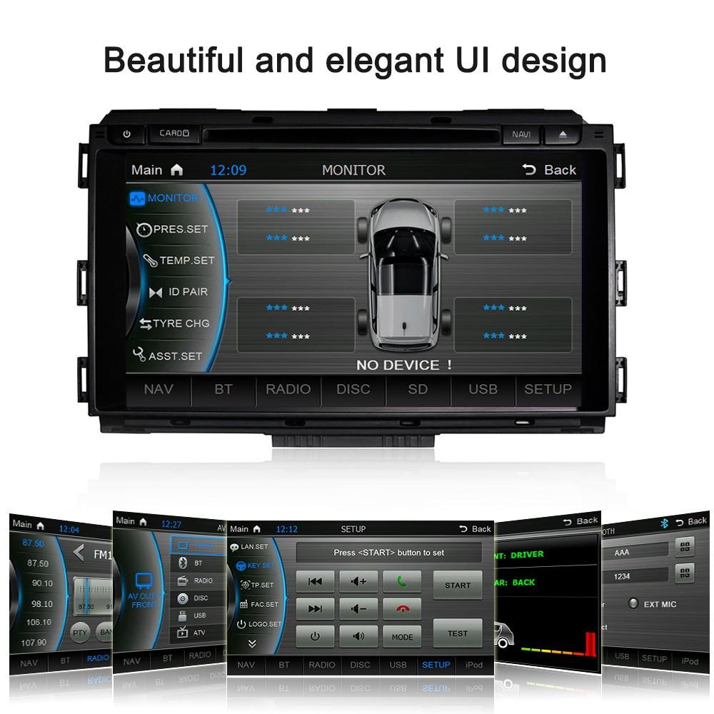 Caska 8 Hd Touch Screen Car In Dash Dvd Player 2 Din Pc Stereo Kia Sedona Head Unit Gps Navigation Bt Radio Multimedia System For