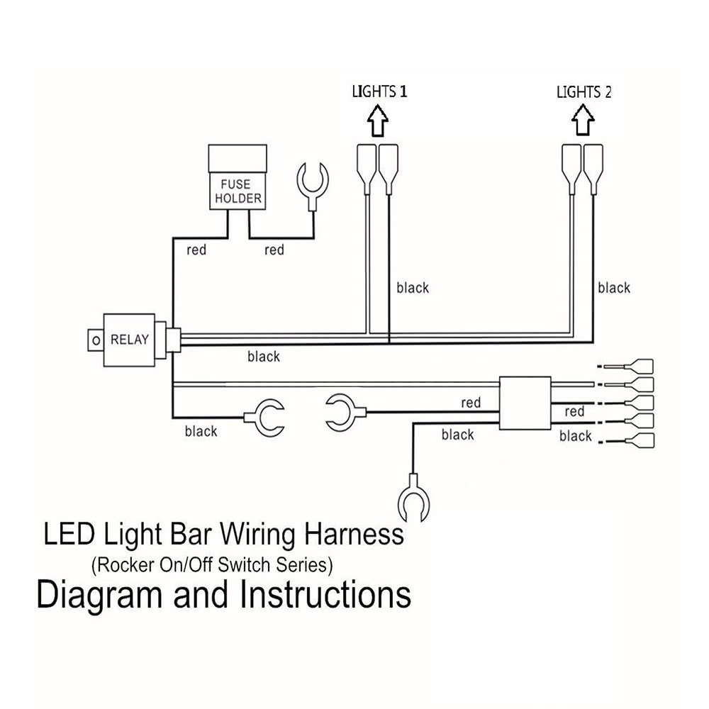 Led Light Bar Rocker On Off Switch With Relay Wiring Harness Kit 12v Diagram Mini 40a For Jeep Rv Boat Trailer