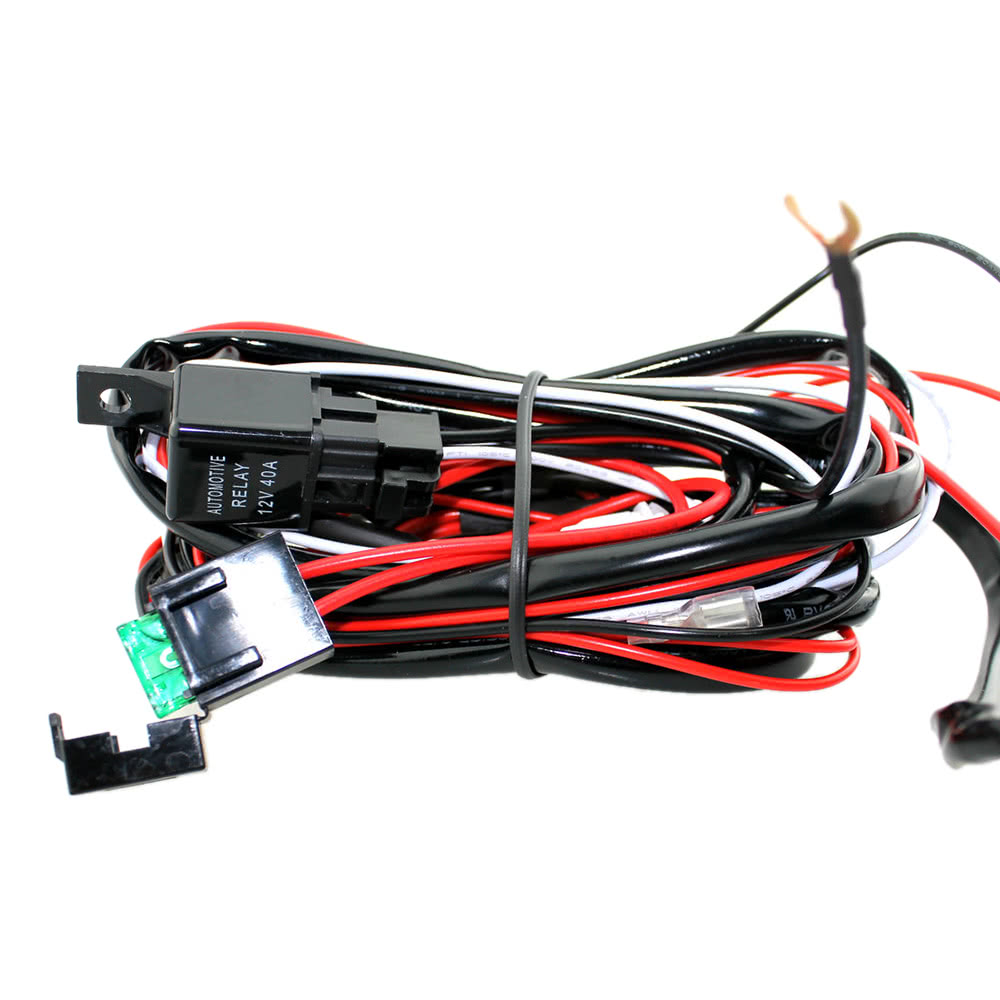 Led Light Bar Rocker On Off Switch With Relay Wiring Harness Kit 12v 40a For Jeep Rv Boat Trailer