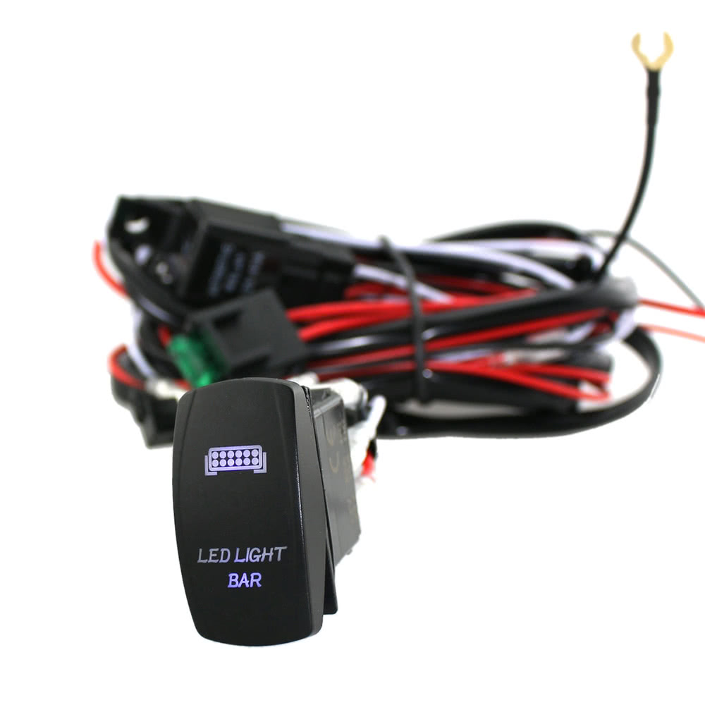 Led Light Bar Rocker On Off Switch With Relay Wiring Harness Kit 12v Trailer When The Vehicle Is Offif You Dont Want Always Glowing After Turned Engineyou Can Hook To A Source Your Fuse Panel