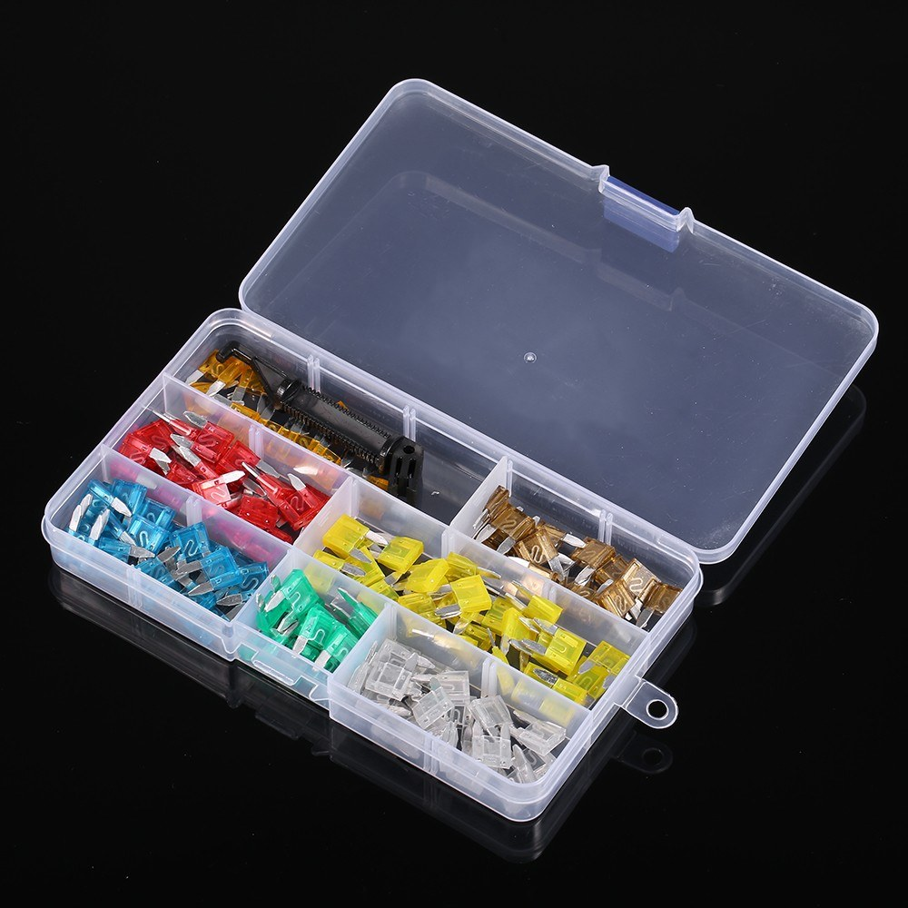 240PCS Mini+Middle Size Fuse Blade Holder Box Car Vehicle Circuit