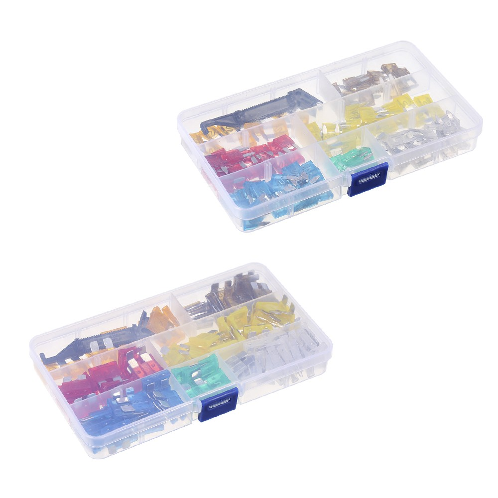 240pcs Mini Middle Size Fuse Blade Holder Box Car Vehicle Circuit 6 20 Amp 1 Black Small 10 5amp X Orange 15 75amp Light Gray 10amp Red 15amp Blue 25 20amp Yellow
