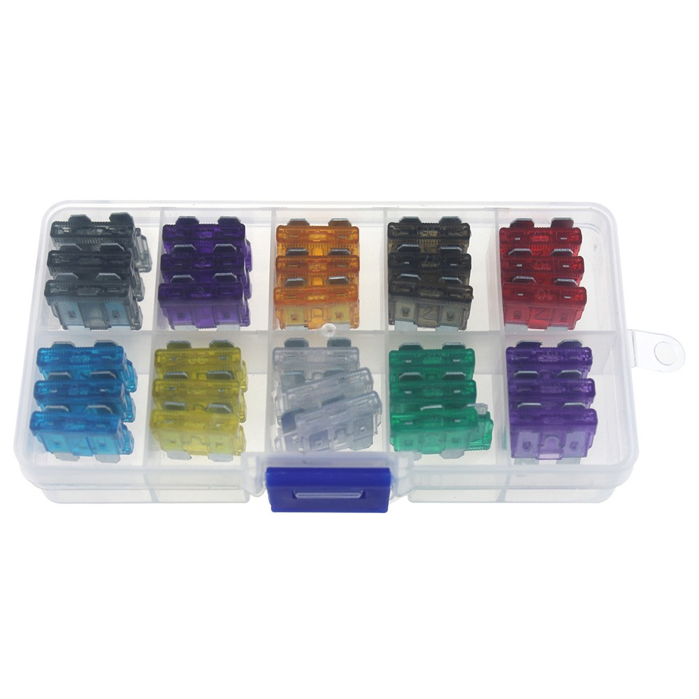 Cobalt Boat Fuse Box 60pcs Assortment Car Standard Blade Fuses 2a 3a 5a 75a 10a 15a 20a 25a 30a 35a For Vehicle Motorcycle Truck