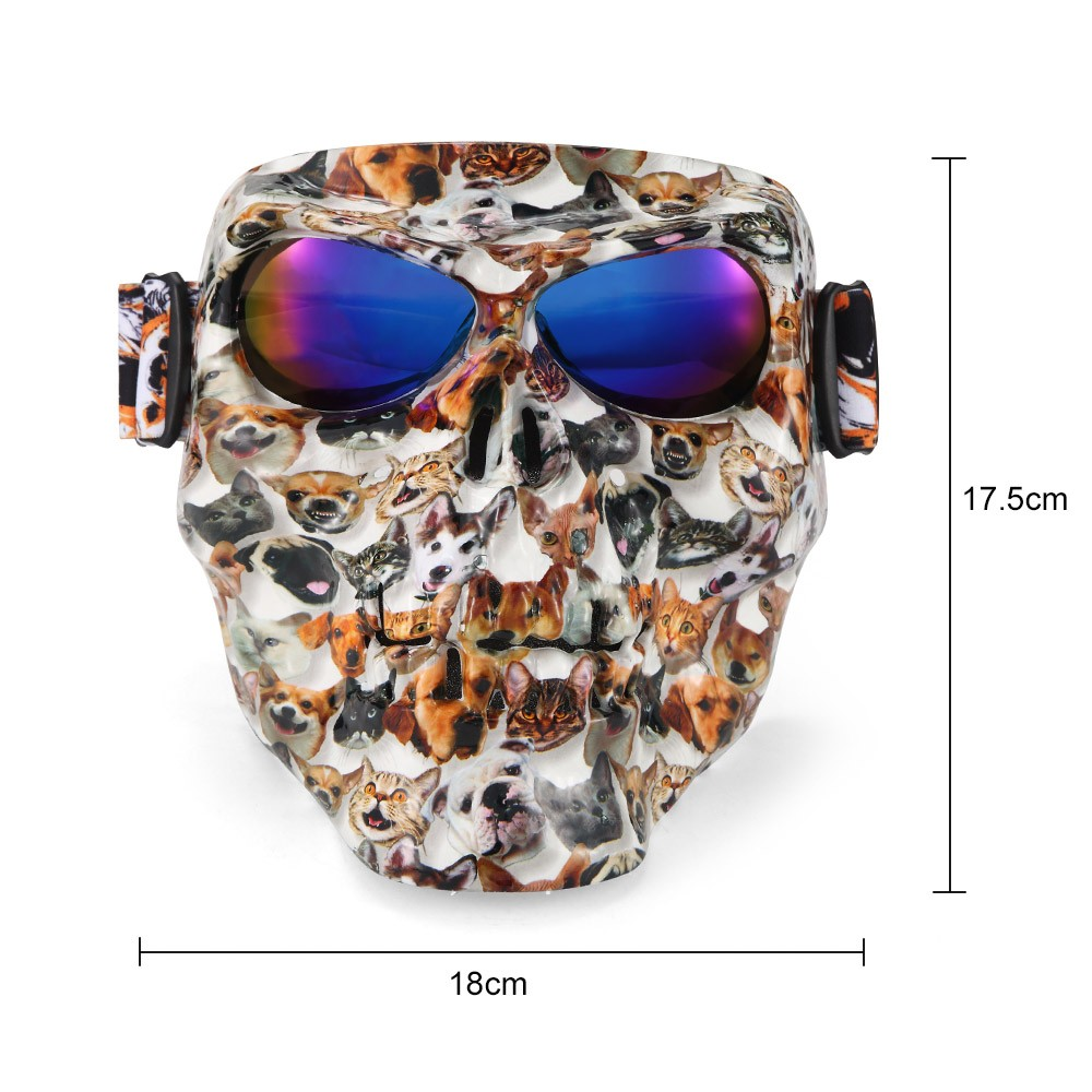 Motorrad Brille Helm Maske Outdoor Reiten Motocross Sch/ädel Winddicht Wind Brille Sanddicht Goggle Kinight Ausr/üstung