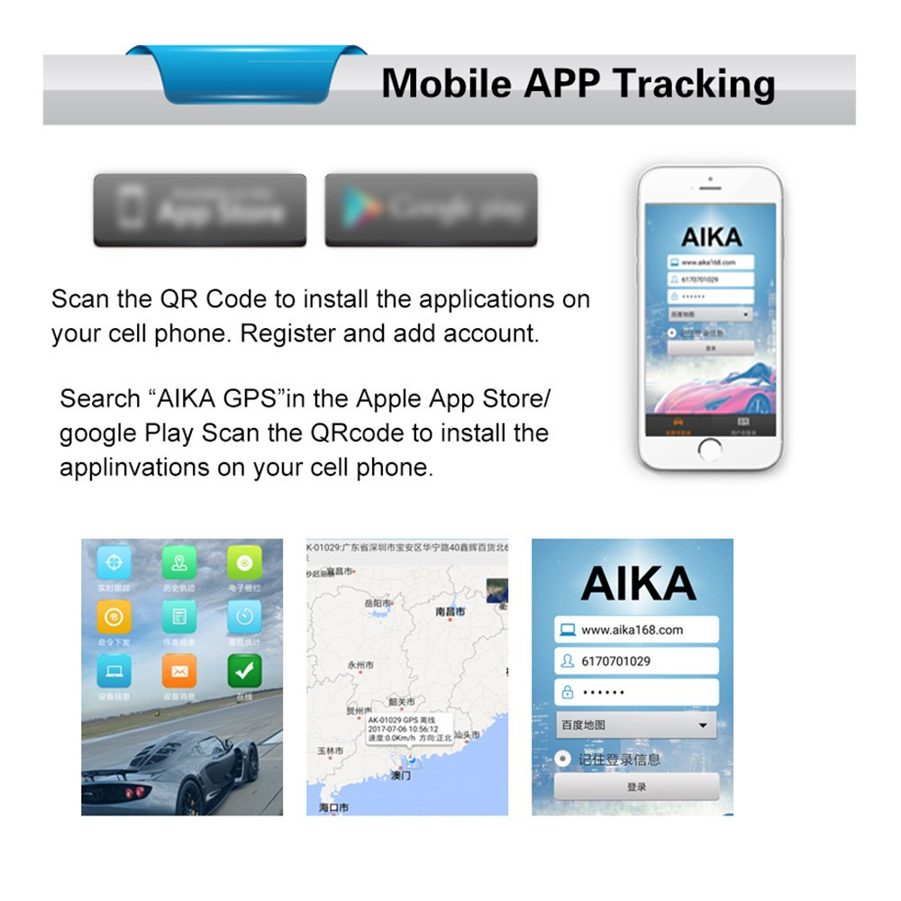 Portable GPRS GPS Real-time Tracking Locator Sales Online black - Tomtop
