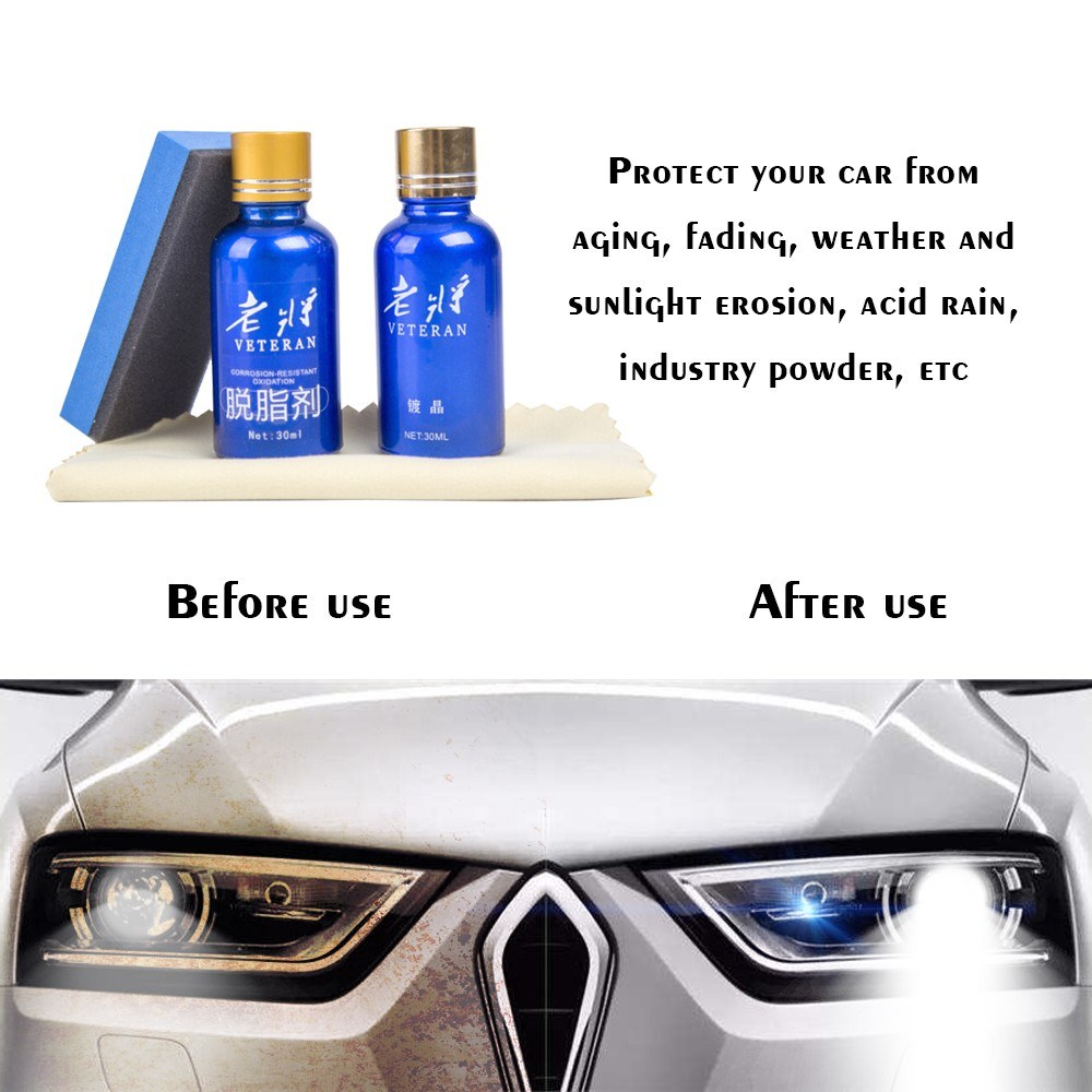 Anti-scratch Auto Polish Car Liquid Ceramic Nano Ceramic Auto Cleaning  Glasscoat Motorcycle Paint Care Hydrophobic Glass Automotive Crystalline