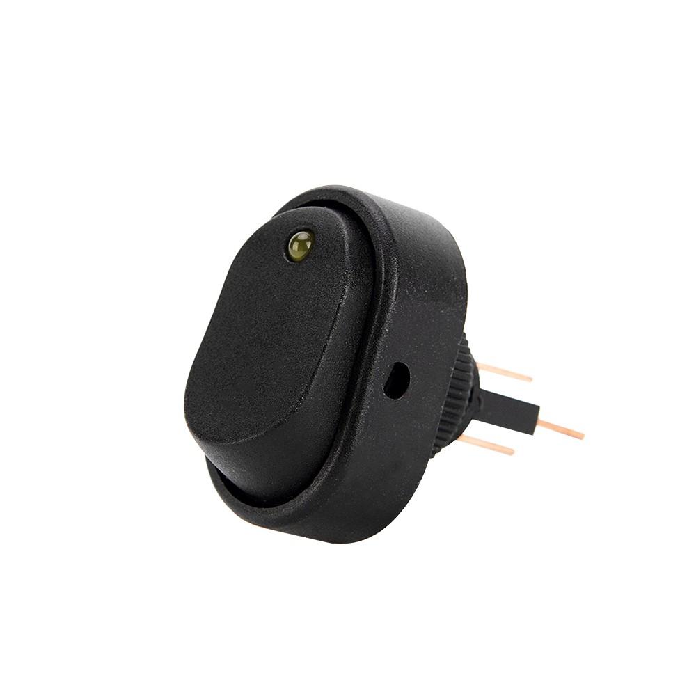 4Pcs LED Dot Light Switch 3-Pin Rocker ON/OFF Toggle SPST Switch ...