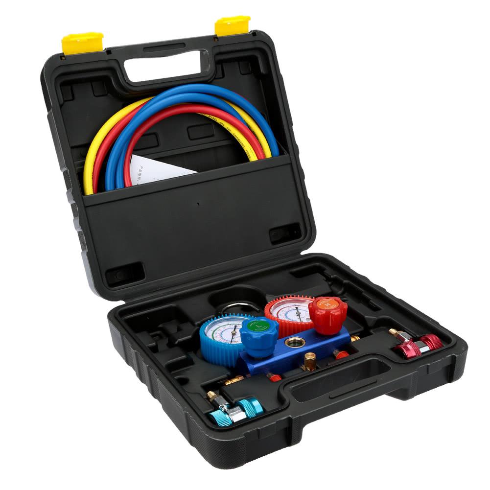 Electronic Auto Gauge Set : A c manifold gauge set r auto air conditioner with