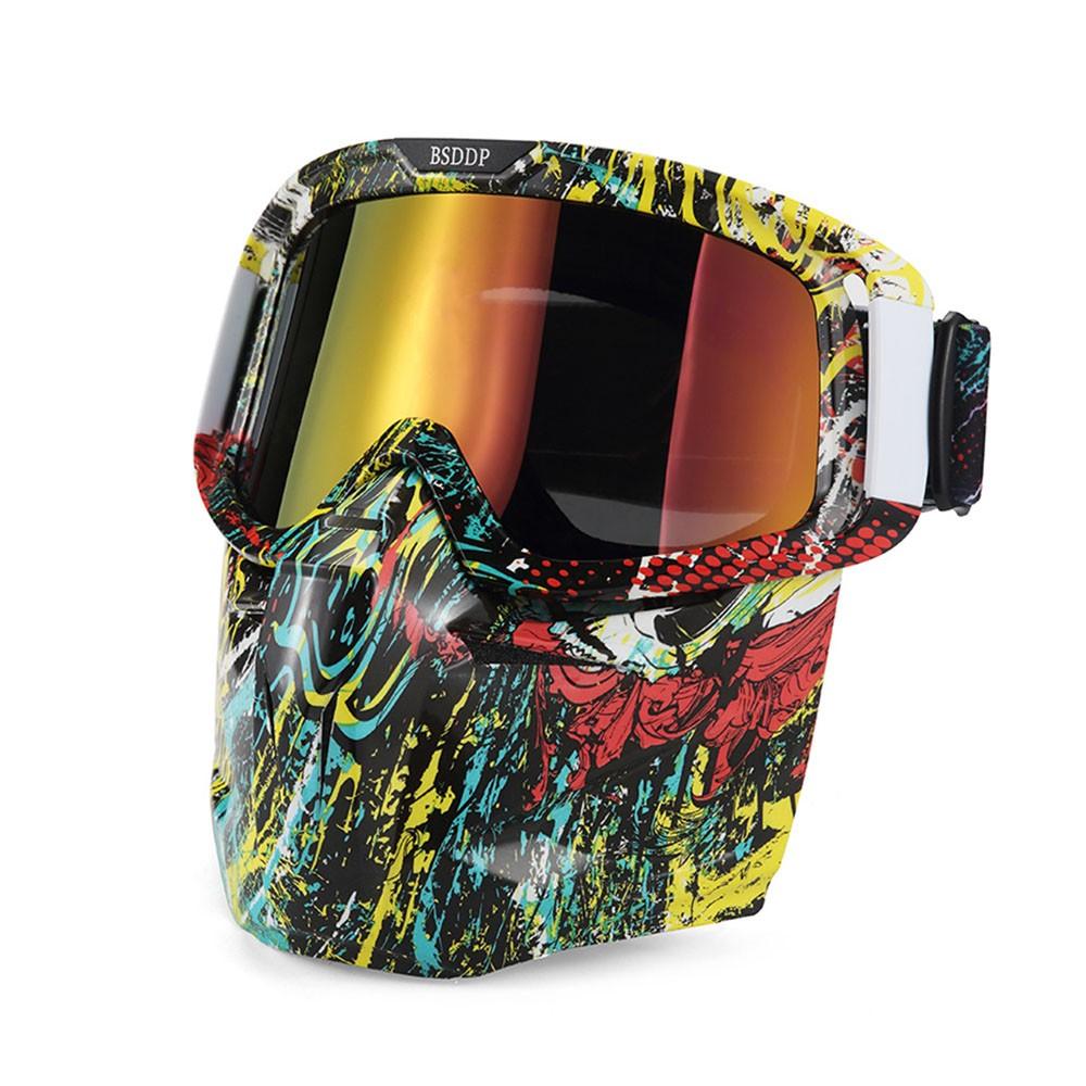 Bike Motorcycle Face Mask Goggles Motocross Motorbike
