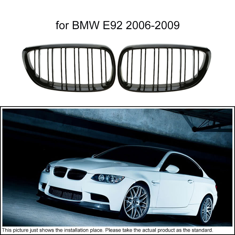 une paire de voiture gloss noir calandre d coration grilles pour bmw e92 2006 2009. Black Bedroom Furniture Sets. Home Design Ideas