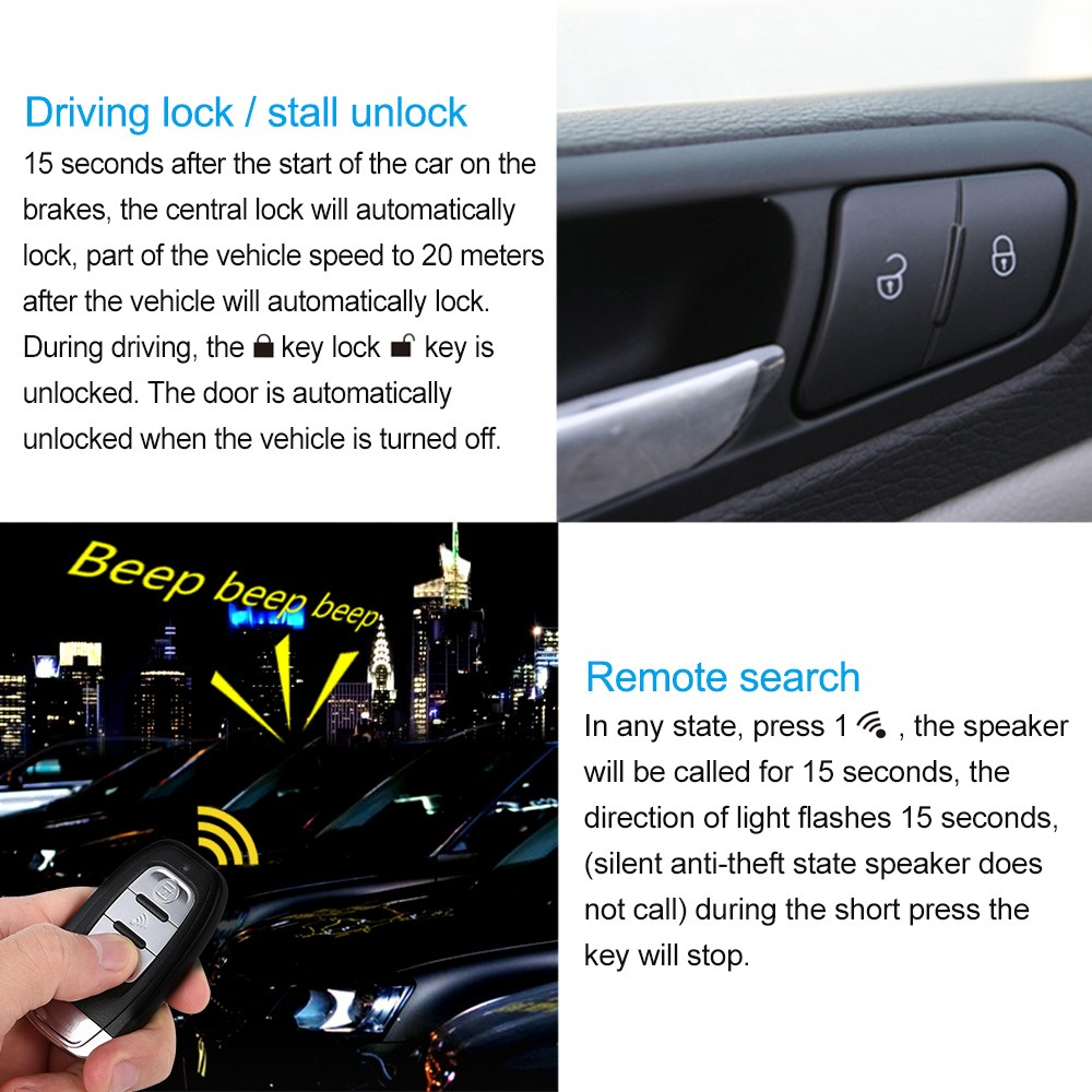 Pke Smart Car Alarm System Is With Passive Auto Lock Or Unlock Mobil Push Button Engine Start Rfid Ignitaion Remote Keyless Entry Black Central Locking