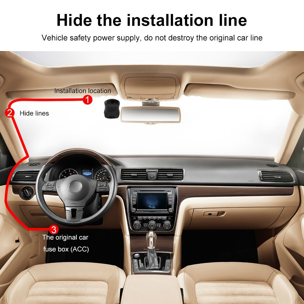 Car Camera Full Hd Recorder Video Dvr Hidden Camcorder Hide Fuse Box Safety Mouse Over To Zoom In
