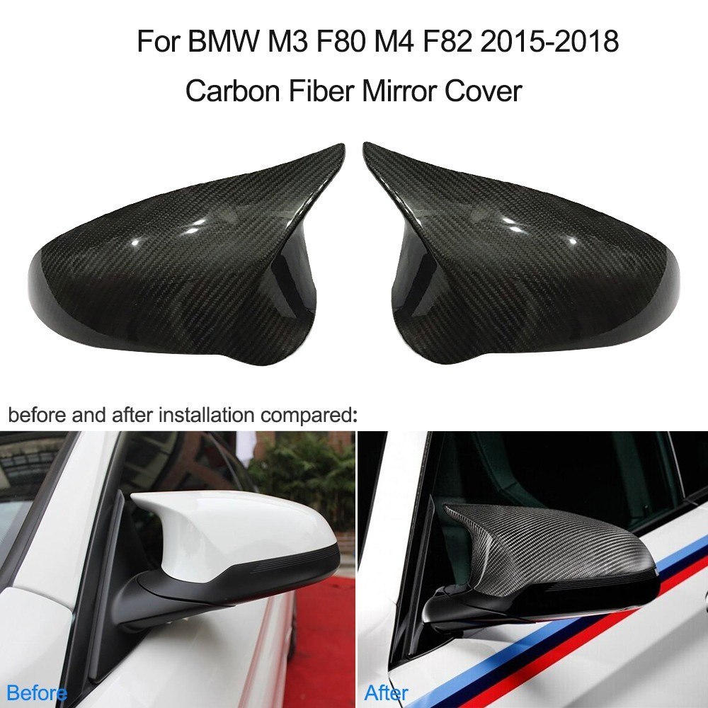 For Bmw M3 F80 M4 F82 2015 2018 Carbon Fiber Mirror Cover 1 Pair