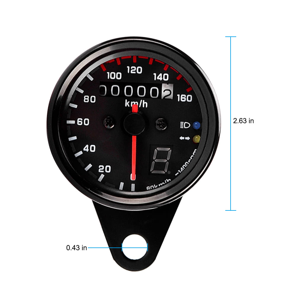 how to get a tachometer off a motorcycle