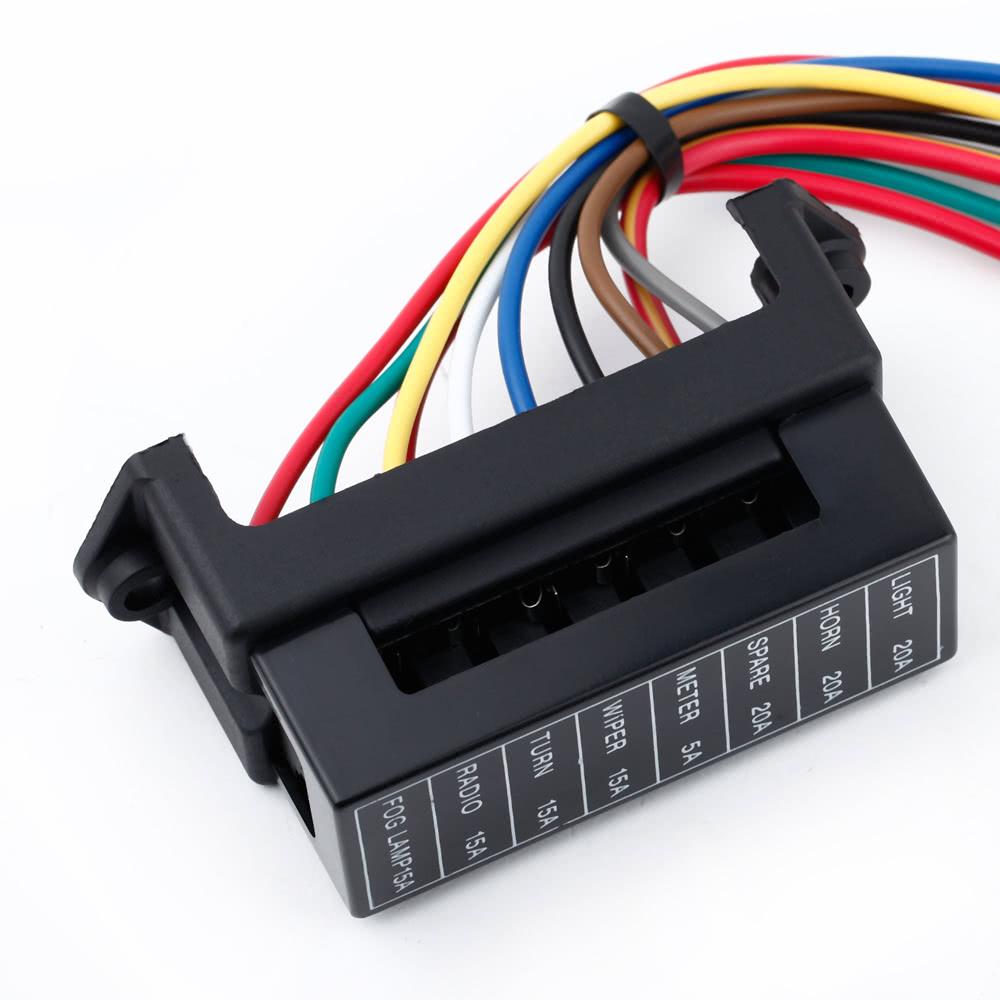 8 voies dc32v bo u00eete  u00e0 fusibles de lame automatique circuit