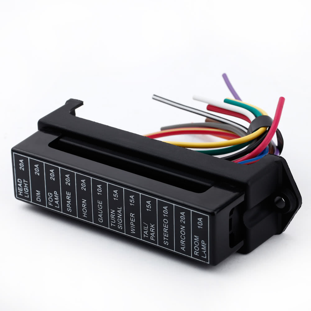 12 Way Dc32v Circuit Car Trailer Auto Blade Fuse Box Block Holder Add A Atc Standard Connector Ato 2 Input Ouput Wire Sales Online Tomtop
