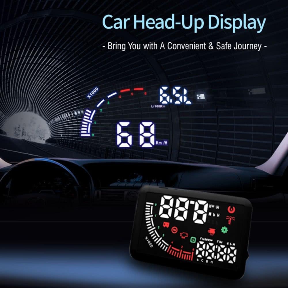 5 5 pouces indicateur voiture hud exposition kmh mph vitesse double obd interface pare brise. Black Bedroom Furniture Sets. Home Design Ideas