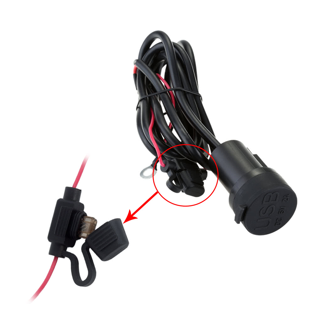 Motorcycle Waterproof Dual Usb Charger Adapter Socket 12v Outlet Wiring To Power For Gps Mobile Phone Mp3 Player