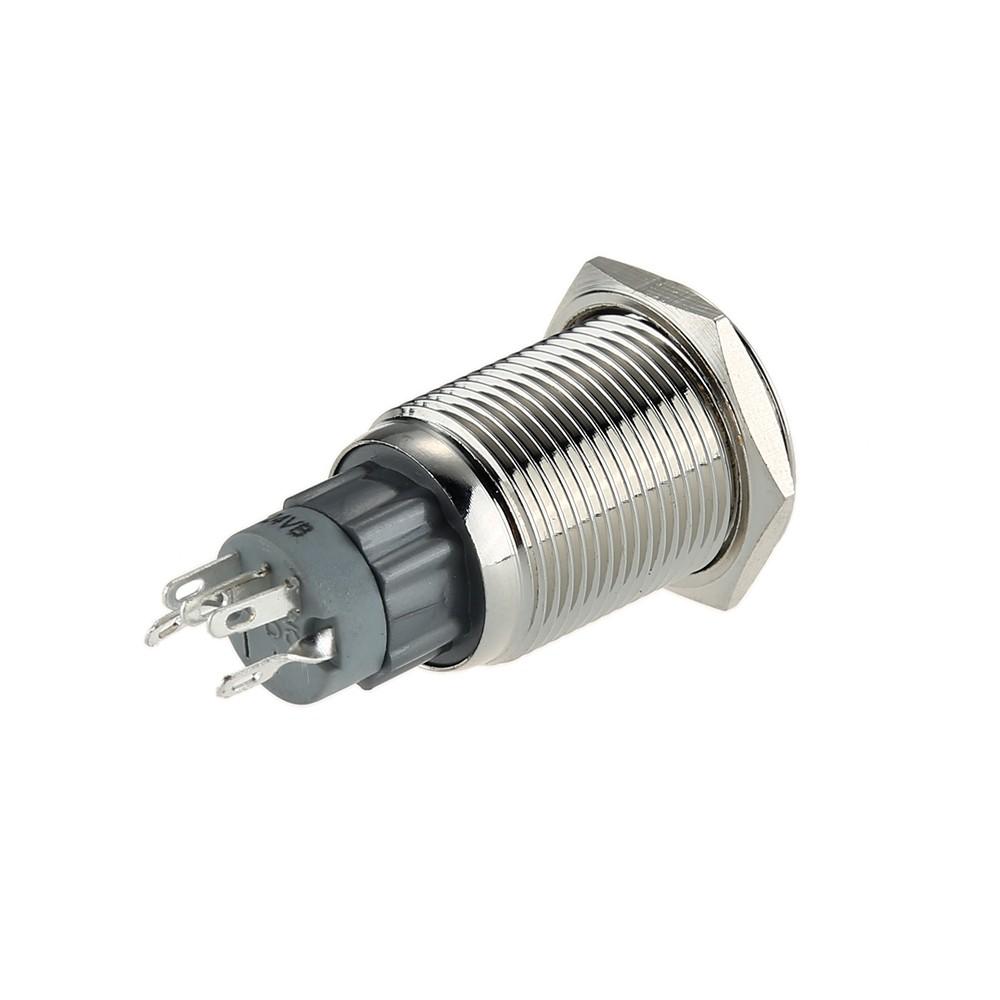Auto Circuit Mini Modifications Contrôle Poussoir 3 Interrupteur Électriques Voiture 16mm Bouton Verrouillage Momentanée Avec V Bateau À Pour If6Yygb7v