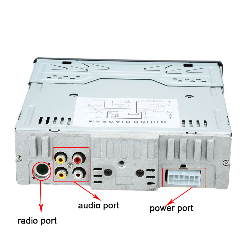 Car Stereo Radio Audio Player Receiver In Dash Fm Aux Input Cd Dvd Usb Mp3 Connection Diagram Vcd Wma With Sd Port Detachable Panel