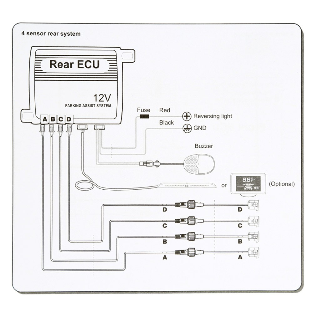 Steelmate Pts800ex 8 Sensors Parking Assist System Car Reverse Sensor Circuit For Security Radar Alert With Audible Buzzer