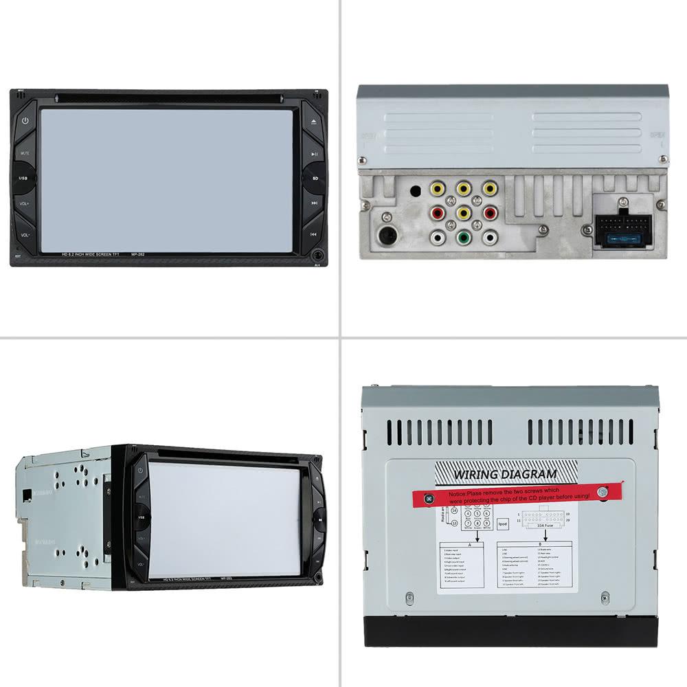 62 Universal 2 Din Hd Car Stereo Dvd Player Bt Radio Entertainment Cd Wiring Diagram Touch Screen Fm Usb Port