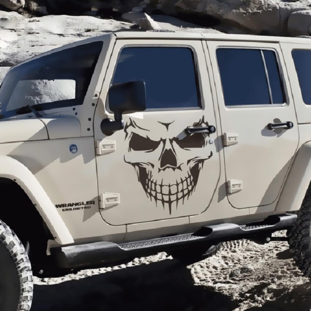 Novel Scary Cool Skull Skeleton Pattern Car Engine Cover Waterproof ...