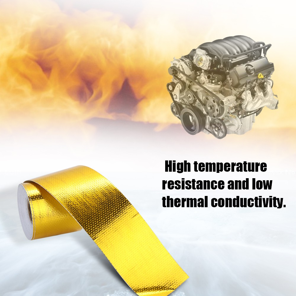 New Brand Reflect Light Fire-retardant Fiberglass Belt Automobile  Motorcycle Refit Thermal Insulation Band Exhaust Heat Wrap Roll Durable