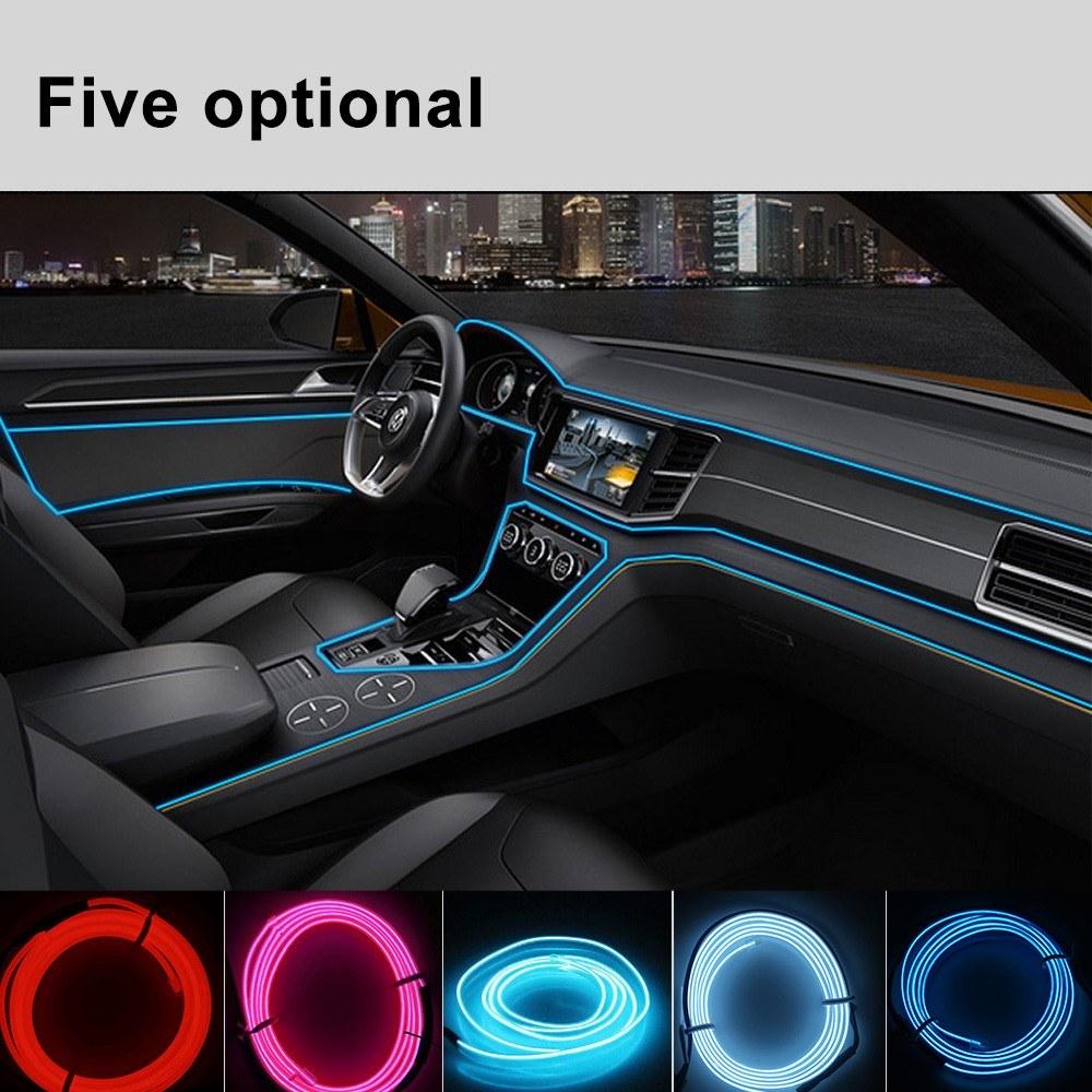 New Model EL Car Cold Light Line Interior Car Lights Car LED Lights Interior  2 Meters