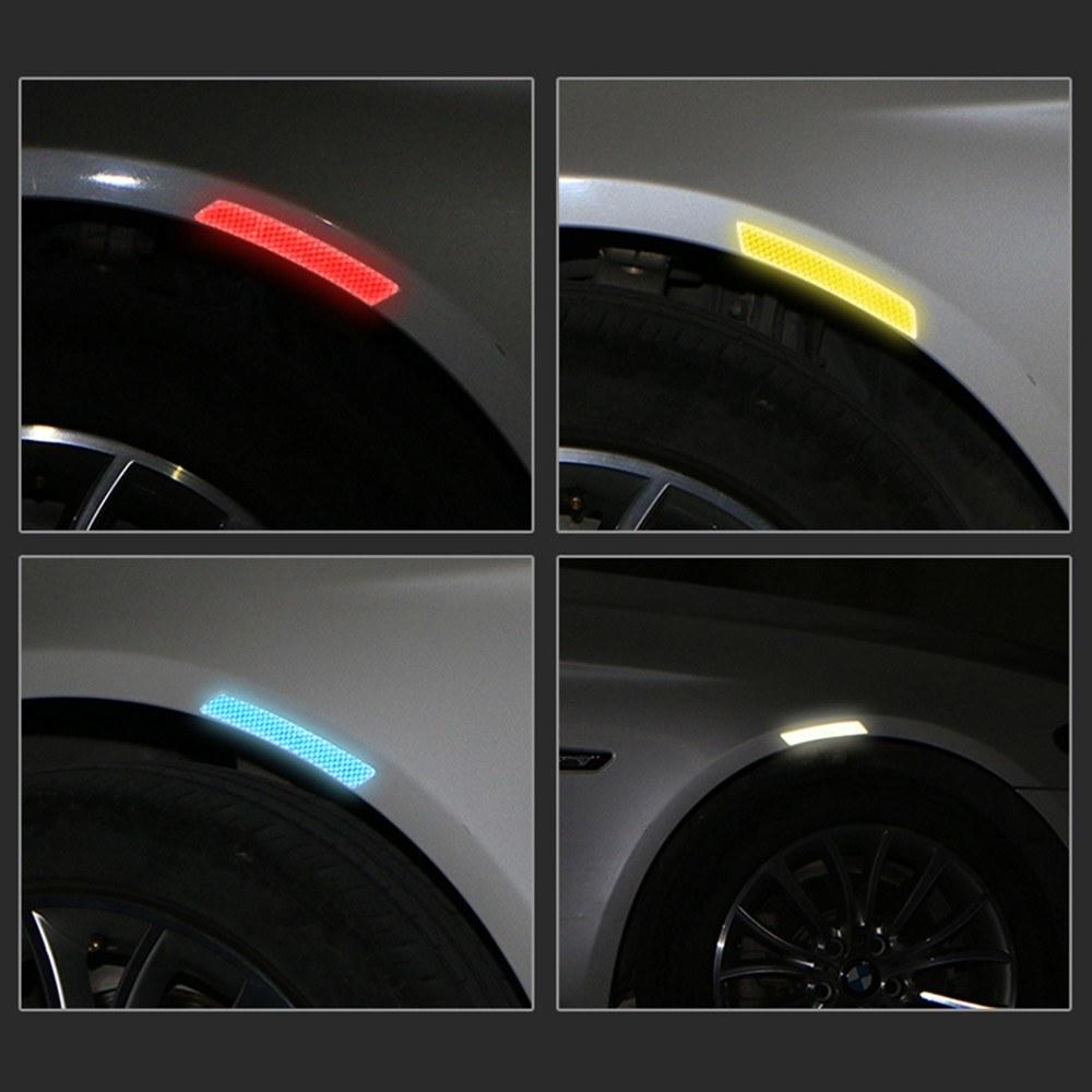 2pcs Outdoor Car Wheel Trims Reflective Warning Sticker S Online Blue Tomtop