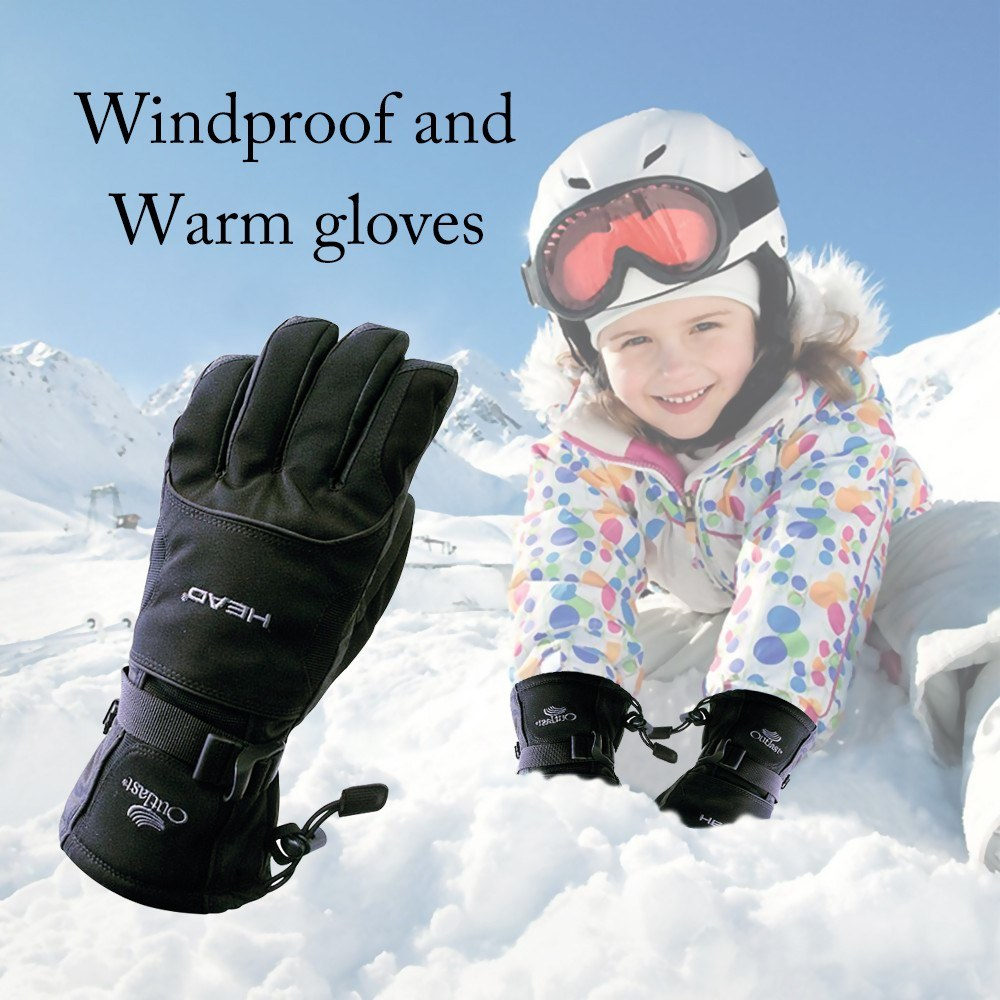 Winter Ski Motorcycle Sport Waterproof Double Gloves