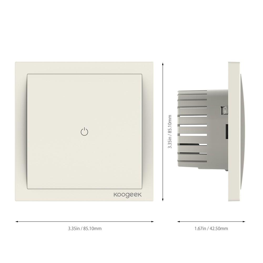 Koogeek Wi-Fi-fähiger intelligenter Lichtschalter 2 # - Tomtop.com