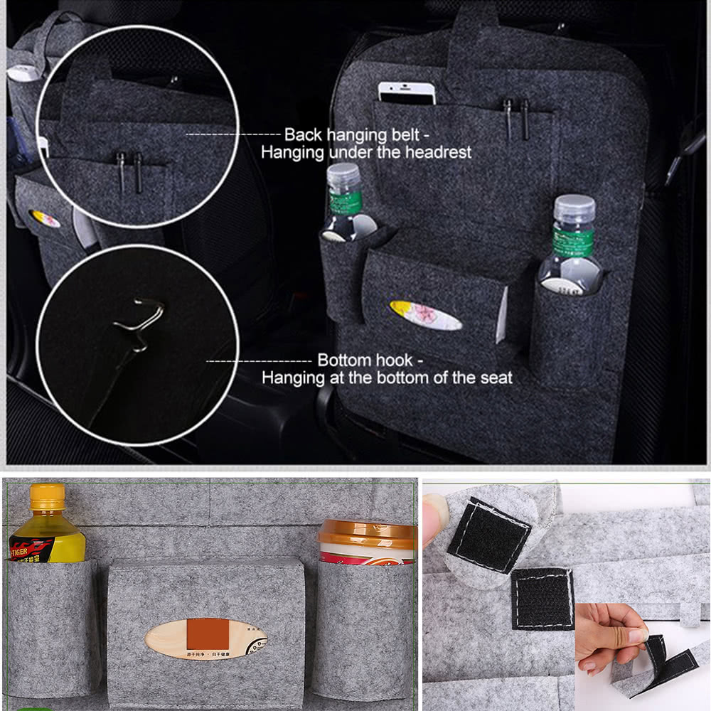 Package size: 35 * 16 * 7cm / 13.78 * 6.30 * 2.76in. Package weight: 182g / 6.42oz. Package list: 1 * Car seat storage bag