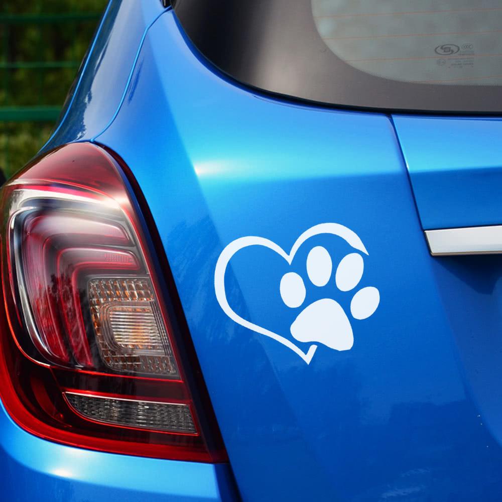 11 * 9.3CM perro patrón patrón patas coche pegatina huella auto ...