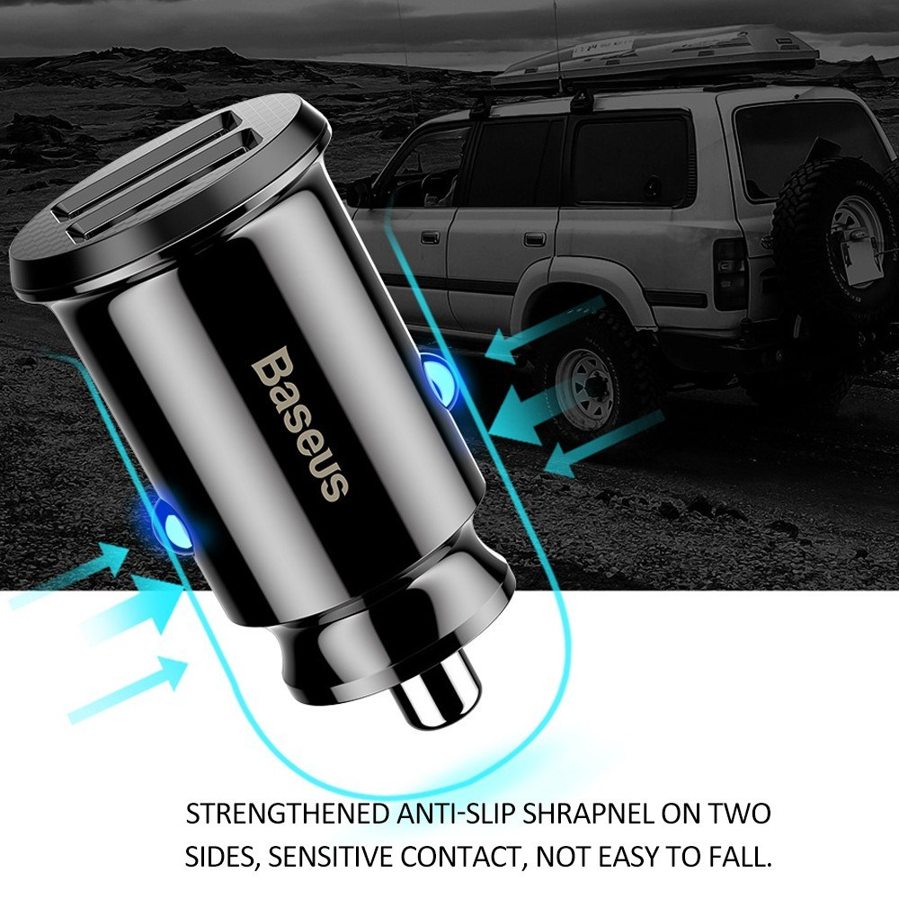 Mini Dual USB Car Charger For Mobile Phone Tablet GPS 3.1A Fast Charger