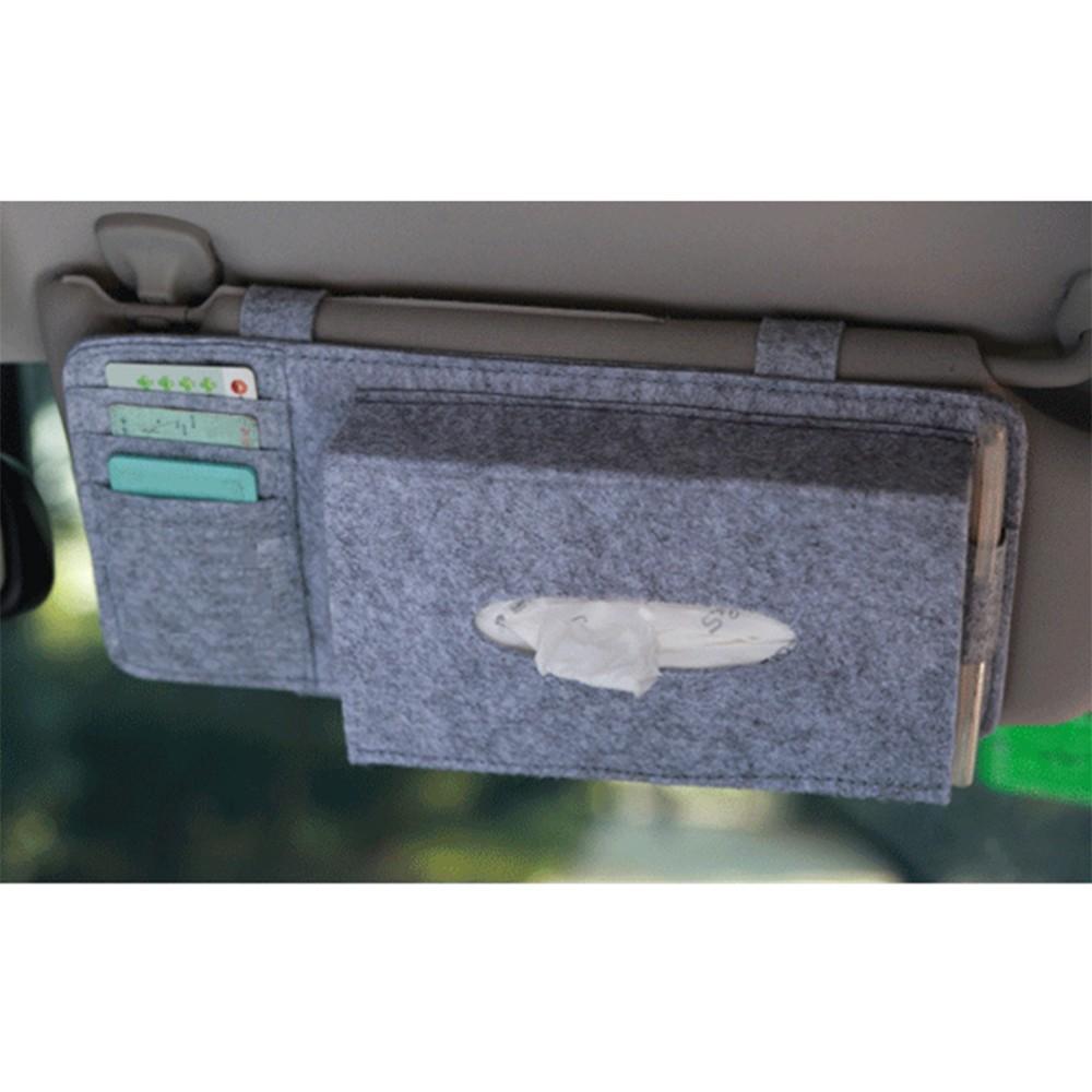 fashion car sun visor type wool felt hanging tissue box. Black Bedroom Furniture Sets. Home Design Ideas