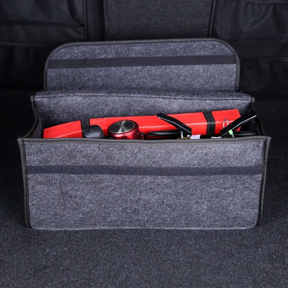 Caja de Almacenamiento Blanda para el autom/óvil Bolsa de Maletero Organizador de Almacenamiento de Viaje Porta Accesorios para autom/óvil Gris Oscuro