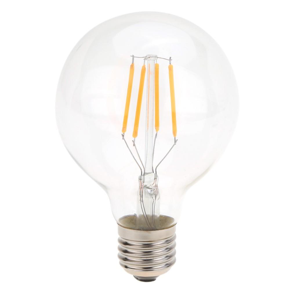 Buy G80 Led Filament E27 40w Bulb Online: 4W LED G80 Filament Bulb AC 220V E27 Base 40W Equivalent