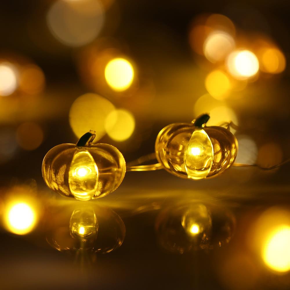 Zucca di halloween della luce della stringa 40 led 3m - Luci a batteria per esterni ...