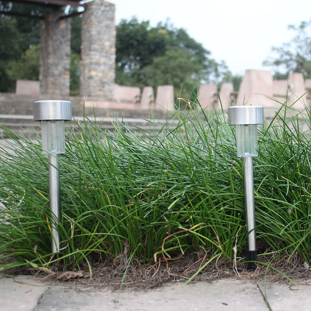 Tomshine 10 pack solar powered led jard n luz l mpara de - Lampara de jardin solar ...
