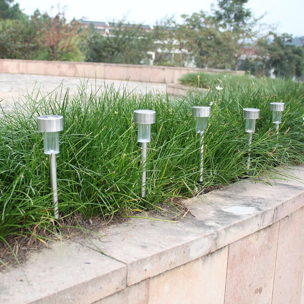 Tomshine 10 pack solar powered led jard n luz l mpara de - Luz jardin solar ...