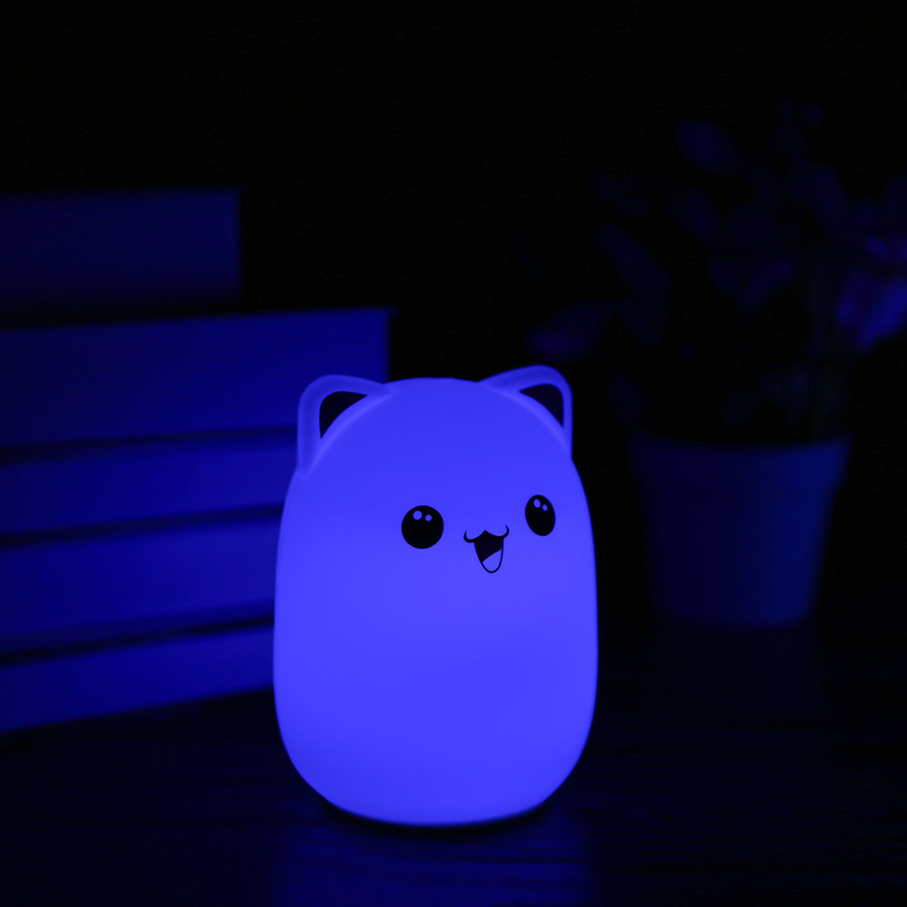 Colorful Bud Bear Silicone Lamp Rechargeable LED Light Cute Night Lamps  Bedroom Lights For Children Kids Nightlight Taking Care Of Baby Bedlight  Touch ...