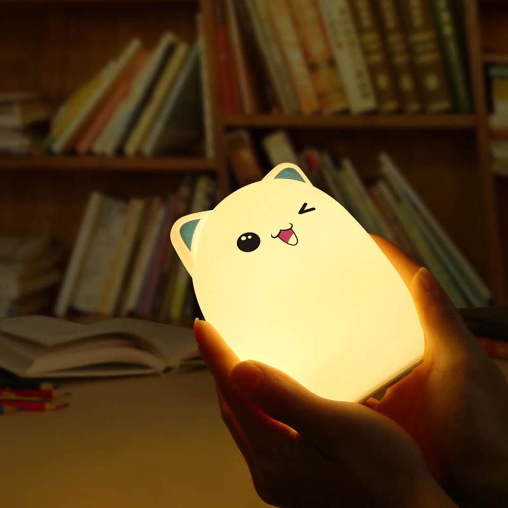 Bunte Knospe Bär Silikon Lampe wiederaufladbare LED Licht Nette ...