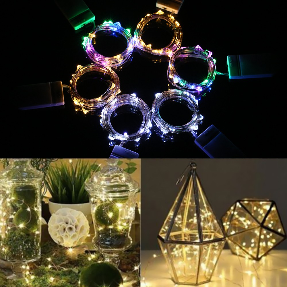 1M 2M 3M 10Pcs 20Pcs 30Pcs LED Starry Copper Wire String Light Strip Flexible Bendable / Extra Battery Operated Powered / for Holiday Festival Decorations