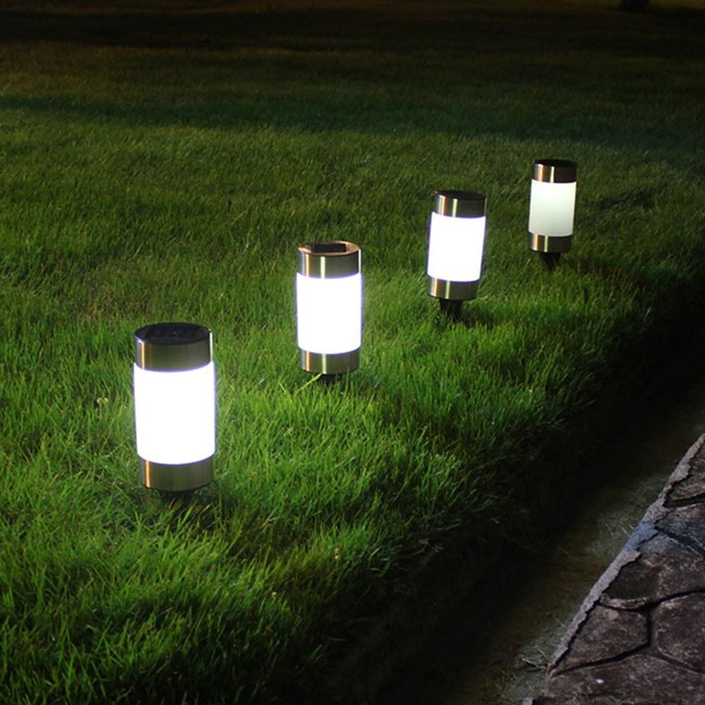 2PCS Lawn Lamp Solar Garden Pathway Lights