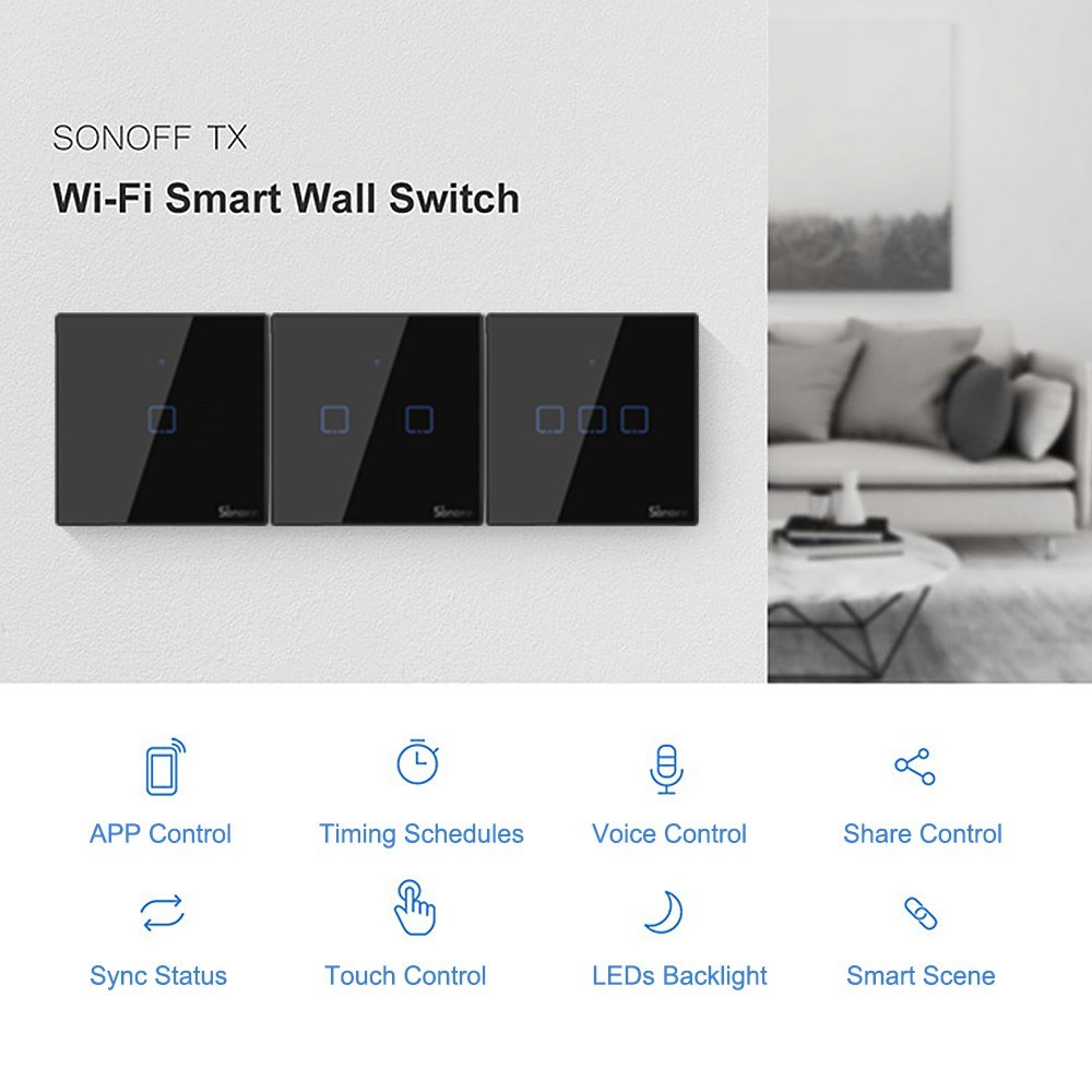 SONOFF T3 Intelligent Switch EU/UK/US Sales Online 01# eu plug - Tomtop