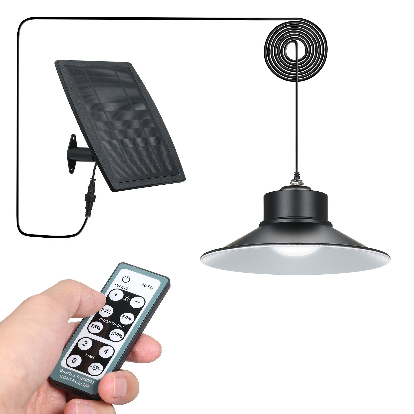 Tomtop - 62% OFF Solar Powered Ceiling Light LEDs Shed Lights, Free Shipping $31.99